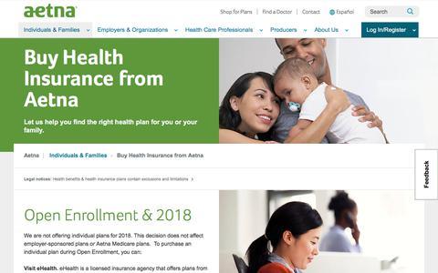 Buy Health Insurance | Aetna