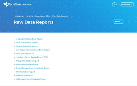 Raw Data Reports – Help Center