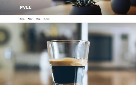 Screenshot of Contact Page thepullapp.com - Contact – PVLL - captured Sept. 19, 2017