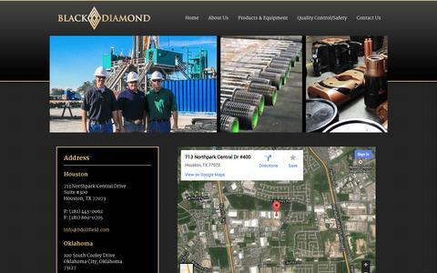 Screenshot of Contact Page bdoilfield.com - Contact Us   Black Diamond Oil Rentals - captured Nov. 3, 2014