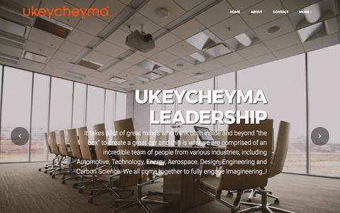 Screenshot of Team Page ukeycheyma.com - Ukeycheyma Leadership - captured May 26, 2017
