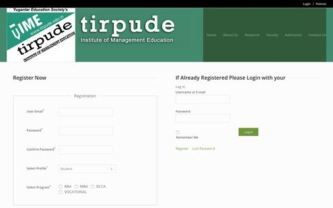 Screenshot of Login Page tirpude.edu.in - Tirpude Group Of Institutions |   Tirpude Login - captured Oct. 27, 2017