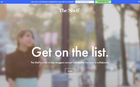 Screenshot of Signup Page theshelf.com - Bloggers Ń The Shelf - captured Nov. 4, 2015