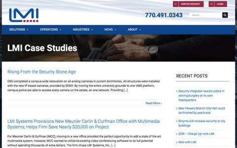 Screenshot of Case Studies Page lmisystemsinc.com - LMI | Read Real-World Stories of Our Most Exciting Projects - captured Sept. 25, 2018