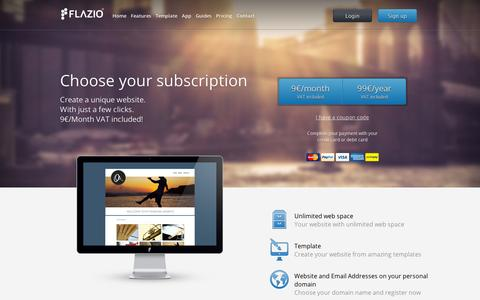 Screenshot of Pricing Page flazio.com - Flazio - Pricing - captured Sept. 11, 2014