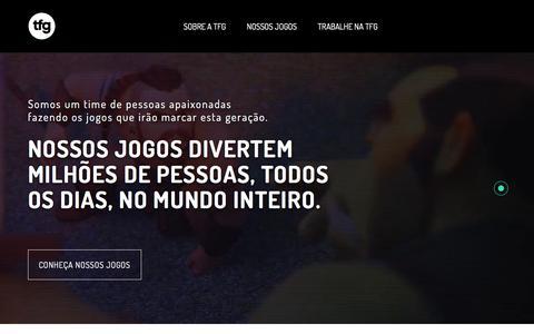 Screenshot of Home Page tfgco.com - TFG - captured July 14, 2018