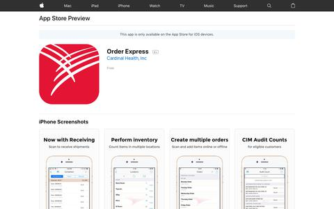 Order Express on the AppStore