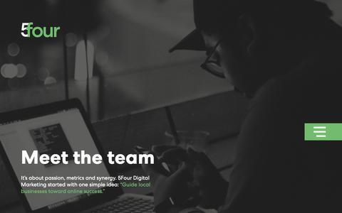 Screenshot of About Page 5fourdigital.com - About the 5Four Team | Digital Marketing Agency | 5Four Digital - captured Nov. 8, 2018