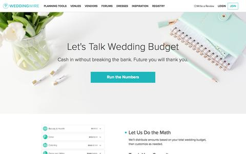 Wedding Budget Planner, Spreadsheet and Calculator | WeddingWire