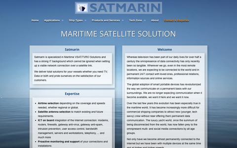 Screenshot of About Page satmarin.com - Maritime Satellite Solutions - Satmarin™ - captured Feb. 4, 2016