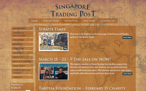 Screenshot of Press Page singaporetradingpost.com - Newsletter - captured Oct. 6, 2014