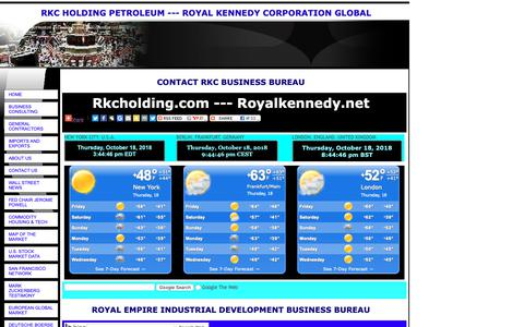 Screenshot of Contact Page royalkennedy.com - RKC HOLDING PETROLEUM ---  ROYAL KENNEDY CORPORATION GLOBAL - captured Oct. 18, 2018