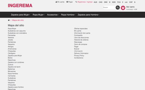 Screenshot of Site Map Page ingerema.es - Mapa del sitio - captured Nov. 5, 2018