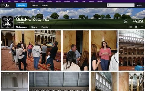 Screenshot of Flickr Page flickr.com - Flickr: Gulick Group's Photostream - captured Oct. 23, 2014