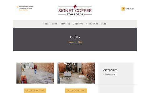Screenshot of Blog signetcoffee.com - blog - Signet Coffee Roasters - captured Nov. 3, 2017