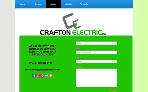 Screenshot of Contact Page craftonelectric.com - Contact - captured Oct. 3, 2014