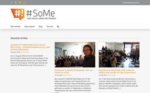 Screenshot of Home Page hashtag-some.de - hashtag-some.de - captured Aug. 31, 2016