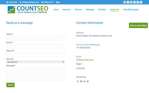 Contact Us - Count SEO