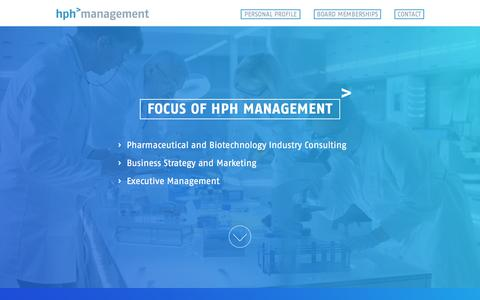 Screenshot of Home Page Contact Page hph-management.com - hph management GmbH - captured Sept. 25, 2018