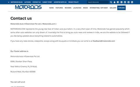 Contact us | Motoroids