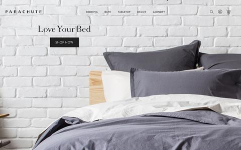 Screenshot of Home Page parachutehome.com - Parachute Home – Rethinking the basics of bedding. - captured June 22, 2017