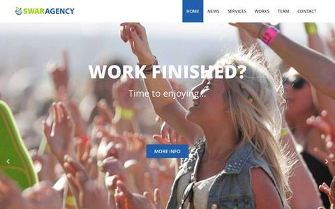 Screenshot of Home Page swar-agency.com - SWAR Agency, who dares wins ! - captured Feb. 22, 2016