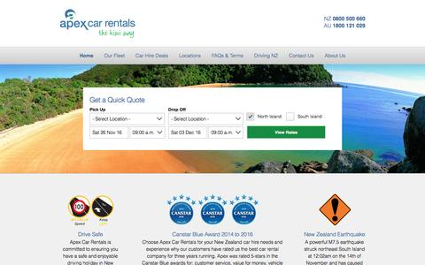 Apex Car Rentals New Zealand - Your New Zealand Car Hire Specialist