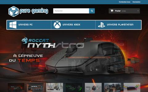 Screenshot of Home Page pure-gaming.fr - PURE GAMING - captured Feb. 18, 2016