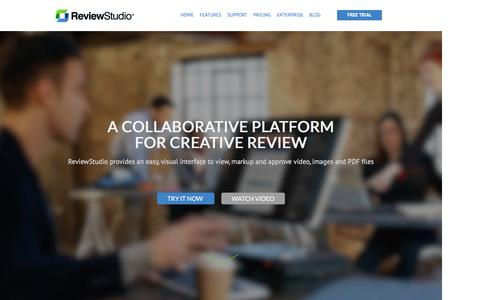 Screenshot of Home Page reviewstudio.com - ReviewStudio :: Collaboration & Proofing of Video, Image & PDF - captured Feb. 25, 2016