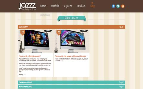 Screenshot of Blog jazzz.com.br - Blog da Jazzz - E-Commerce - SEO - Marketing Digital   Jazzz Produtora Web - captured Oct. 3, 2014