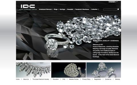 Screenshot of Home Page idc-diamond.com - IDC-Israel Diamond Center - captured Oct. 6, 2014