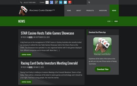 Screenshot of Press Page racingcardderby.com - Latest News - Racing Card Derby - captured Oct. 9, 2014