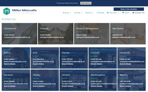 Screenshot of Contact Page millermetcalfe.co.uk - Contact Us | Miller Metcalfe | Get In Touch - captured Nov. 7, 2018
