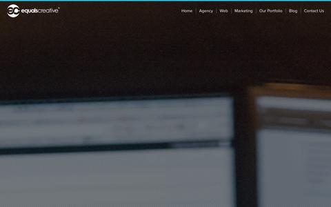 Screenshot of Home Page equalscreative.com - Equals Creative ® | Creative & Digital Marketing Agency - captured Jan. 30, 2016