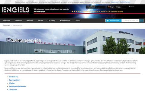 Screenshot of Support Page engelslogistics.be - Klantenservice - captured Oct. 22, 2017