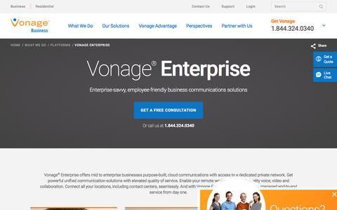 Unified Communications Solutions: Vonage Enterprise | Vonage Business