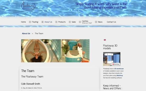 Screenshot of Team Page floataway.com - The Team - captured Aug. 4, 2016