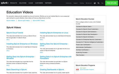 Education Videos | Splunk