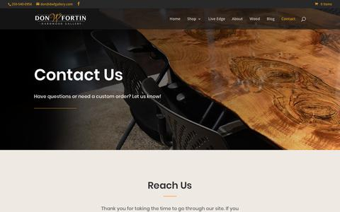 Screenshot of Contact Page dwfgallery.com - Contact - DWF Hardwood Gallery - captured Oct. 7, 2018