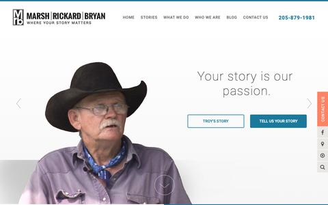 Screenshot of Home Page mrblaw.com - Marsh, Rickard & Bryan, P.C.  Personal Injury Wrongful Death Lawyers - captured Oct. 16, 2018