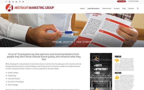 Screenshot of Case Studies Page abstraktmg.com - Case Studies - Abstrakt Marketing Group - captured Aug. 4, 2017