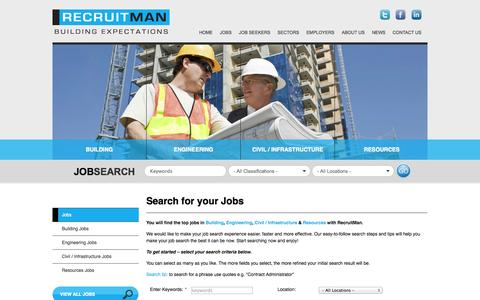 Screenshot of Jobs Page recruitman.com.au - Advanced Search - captured Oct. 26, 2014