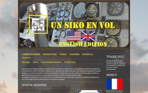 Screenshot of Team Page unsikoenvol.fr - Our team - Site de unsikoenvol ! - captured Oct. 9, 2014