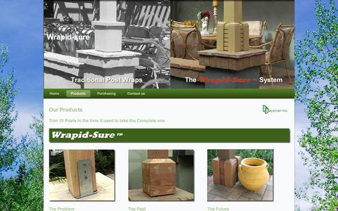 Screenshot of Products Page wrapid-sure.com - Products | Wrapid-sure - captured Oct. 5, 2014