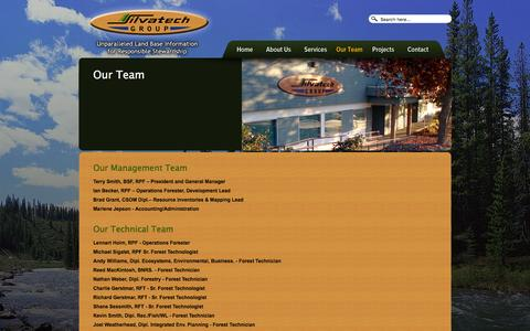Screenshot of Team Page silvatech.ca - The Silvatech Team   Silvatech Group - captured Feb. 14, 2016