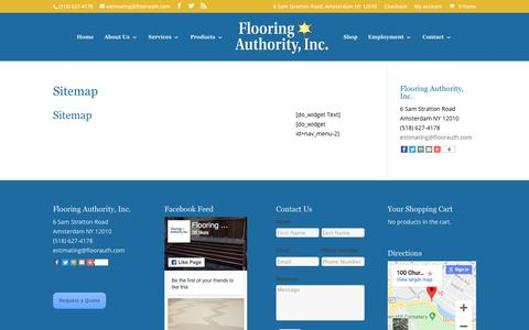 Screenshot of Site Map Page flooringauthorityinc.com - Commercial Flooring Albany NY | Commercial Floor Installer Albany | Commercial Floor Replacement Albany NY | Flooring Authority, Inc. - captured Aug. 15, 2018