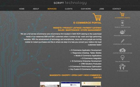Screenshot of Services Page script-technology.com - E-commerce Website Development Company in Noida | Script Technology - captured May 17, 2017