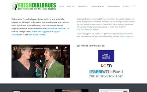 Screenshot of Home Page freshdialogues.com - Fresh Dialogues | Lively interviews with visionaries, business leaders and cultural icons - captured Dec. 10, 2018