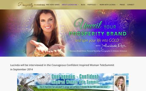 Screenshot of Press Page prosperitybranding.com - In the Media | Prosperity Branding - captured Oct. 3, 2014