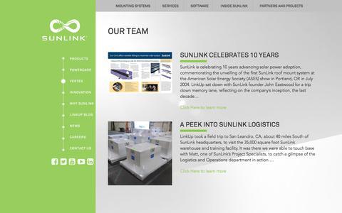 Screenshot of Team Page sunlink.com - Our Team - SunLink - captured Oct. 20, 2017